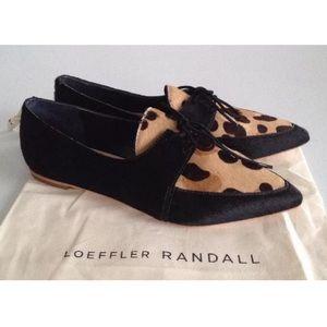 Loeffler Randall Beatriz Cheetah Oxfords 6.5
